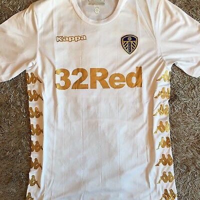 Leeds United 2017/18 Brand New Home Shirt - Size M (UK Small)