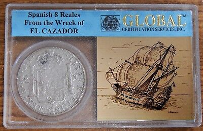 1783 Spain 8 Reales from El Cazador in Global Certification Services Holder