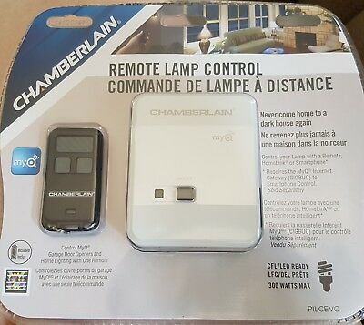 Chamberlain Remote Lamp Control MyQ Garage Door & Lighting With Remote Keychain