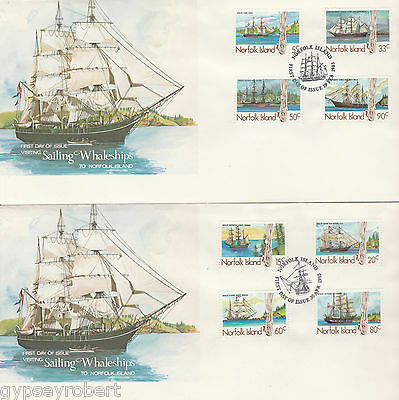 NORFOLK ISLAND   SHIPS  First Day Covers