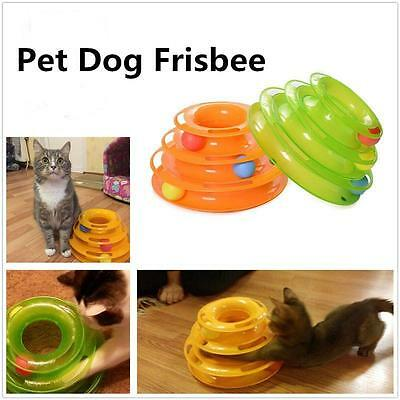 new Three Levels Tower Track Disc Cat Pet Toy Intelligence Amusement Rides Shelf