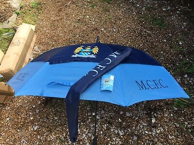 Manchester City Full Size Double Canopy Golf Umbrella - read description,