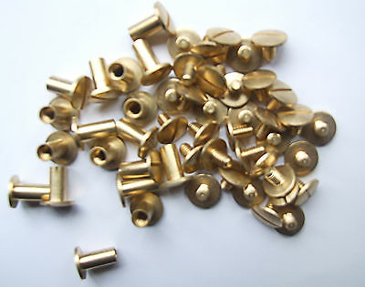 6mm BRASS BINDING POSTS AND SCREWS 100 PK - IDEAL FOR BINDING AND SCRAPBOOKING