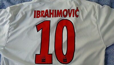 Ibrahimovic Number 10..paris St Germain..nike-Fly Emirates 2014/15 Away Top..xl