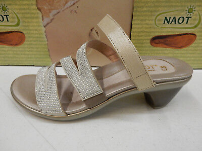 64fe8295db85 NAOT WOMENS SANDALS Formal Gold Threads Silver Rivets Size Eu 38 ...