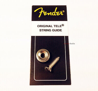 Genuine Fender Tele/Telecaster Guitar CHROME String Tree Guide w/ Mounting Screw
