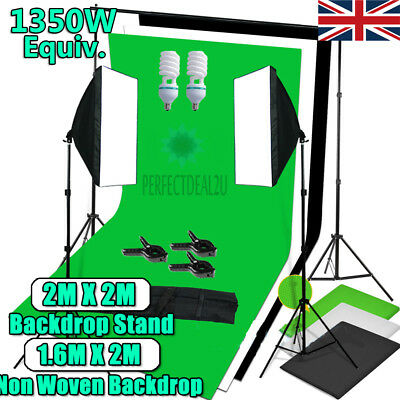 Photography Photo Studio Soft Box Softbox Continuous Lighting Backdrop Stand Kit