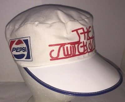 PEPSI COLA HAT VINTAGE PAINTERS CAP  The Switch Is On RARE