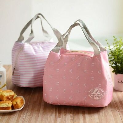 Women Lunch Bag Insulated Thermal Snack Lunch Box Carry Tote Storage Travel Bags