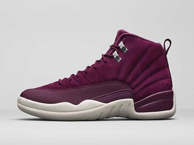 New Youth Air Jordan Retro 12 GS Shoes (153265-617)  Bordeaux/Mtlc Silver-Sail
