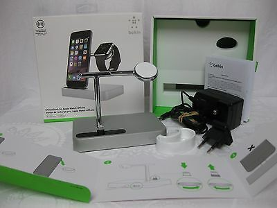 Belkin Charge Dock F8J183 For Apple Watch & iPhone, Solid Cast Arm, Box, VGC