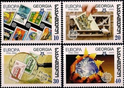 Georgia 2006 A Mi 507A-510A MNH Europa Stamps 50th Anniversary Stamp on Stamp