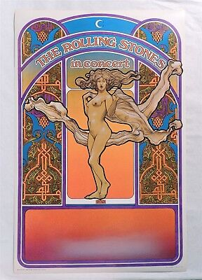M179. THE ROLLING STONES IN CONCERT POSTER by David Byrd Tea Lautrec Litho 1969