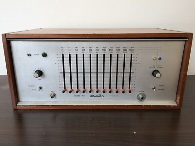 Audix Model 901 Graphic EQ 1970s Discrete with Inductors & Marinair Transformers