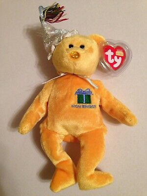 NOVEMBER the Birthday Bear 2002 TY Beanie Baby Plush Toy NEW with Tags