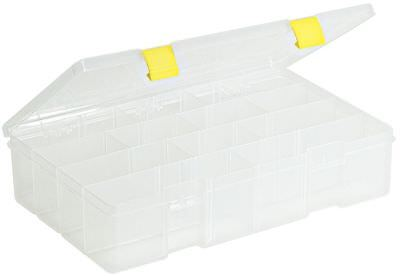Plano Molding Compartment Box, 4 to 15 Compartmnt, Clear - 2-3730-05