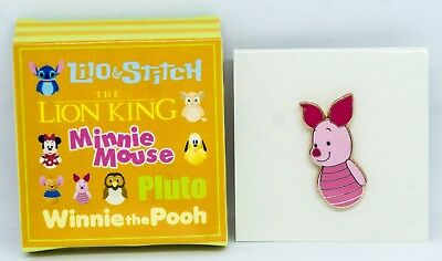 HTF Disney Japan LUCKY DRAW PALS Boxed Pin Winnie the Pooh PIGLET Roly Poly