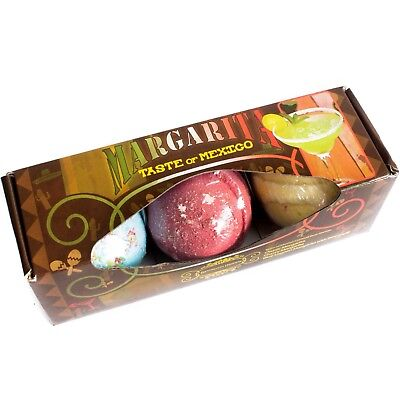 Bath Bombs Gift Set of 3 lush scented cocktail bath bombs