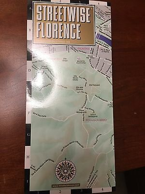 NEW 2015 Streetwise Florence, Italy City Center Street Travel Map VERY RARE!