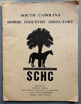 1980's South Carolina Horse Industry Directory -SCHC