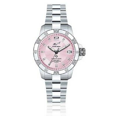 Chris Benz Diamond Diver Oyster Strap 35 mm Pink Pear Habor