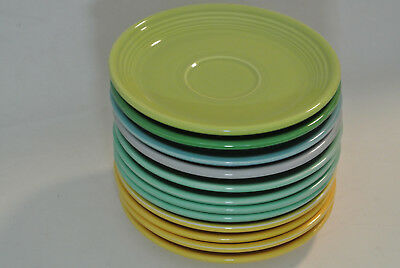 "Vintage Genuine Fiesta Ware Saucers 6"" HLO USA: Set of 13"