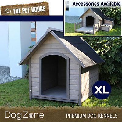 NEW Extra Large Somerset A-Frame Wooden Dog House Wood Timber XL Kennel