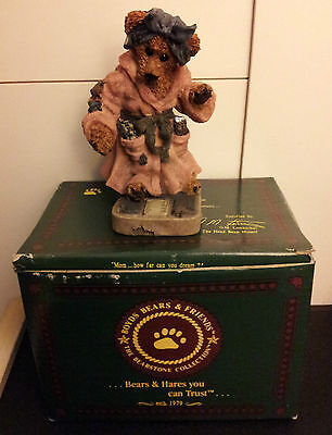 BOYDS BEARS & FRIENDS, Ms. Griz on Weigh Scales, Ltd. Ed. with Original Box!!!