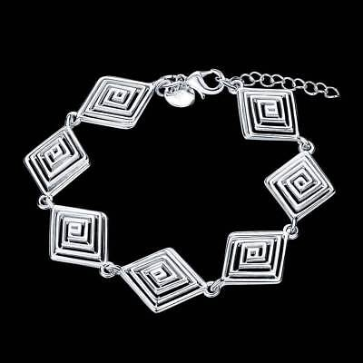 Fashion 925Sterling Solid Silver Jewelry Thread Chain Bracelet For Women H549