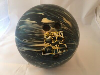 Planet X Swirled Blue Bowling Ball Performance Used Scratched 6 LB