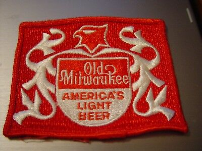 Rare NOS UNUSED 1960s Old Milwaukee Beer Patch FREE SHIPPING