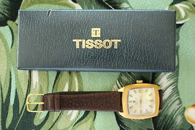 New Old Stock Tissot Seastar T12 Silver Dial Gold Case Chronometer Watch Box Set