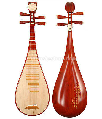 Professional Rosewood Pipa instrument,Chinese Pipa lute guitar