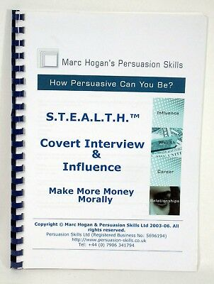 Marc Hogan Persuasion Skills STEALTH Covert Job Interview & Influence DVDs