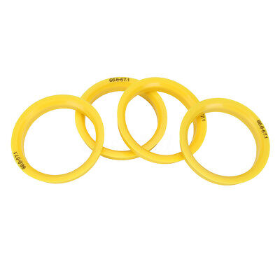 (4) ABS Plastic Hub Centric Wheel Spacer 66.6mm (Wheel) 57.1mm (Hub) Center Ring