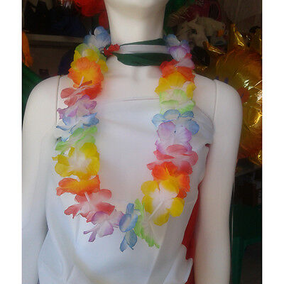Stock 50 Collane Hawaii Hawaiane Hawaiana Festa Party Spiaggia Gadget Fiori 2