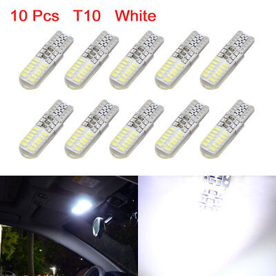 10Pcs T10 24 White LEDs Car Light Bulbs Wedge Indicator Lamp 192 168 2825 DC 12V