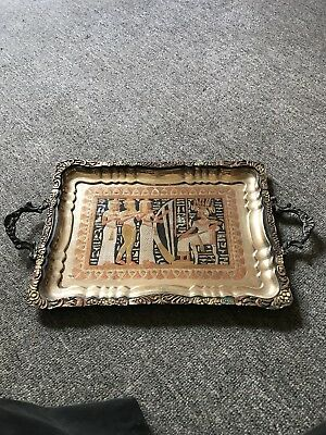 Antique Brass Egyptian Tray