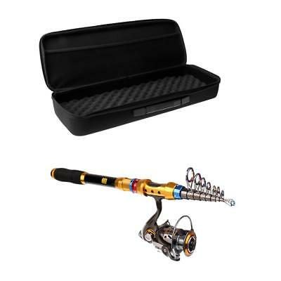 Telescopic Fishing Rod and Reel Set Fishing Travel Rod Lure Holdall Bag Case