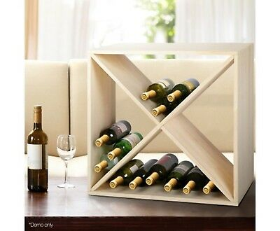 New 24 Bottles Timber Wine Rack 6 Tiers Of Storing Storage Organizer Pine Wood