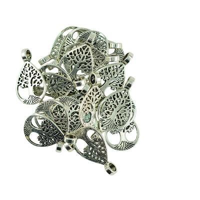 20Pcs Antique Silver Tree of Life Pendant Charm Finding Jewelry Making Gift