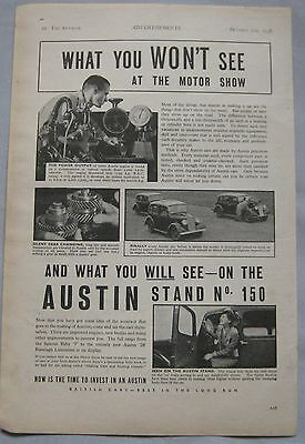 1938 Austin Original advert