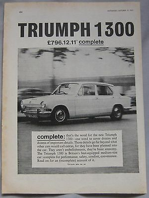 1965 Triumph 1300 Original advert