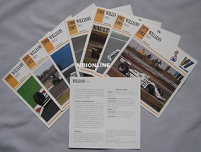 Williams Collectors Classic Car Cards