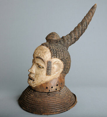 Boki Helmet Crest, Cross River Area, Nigeria, African Tribal Arts, Masks