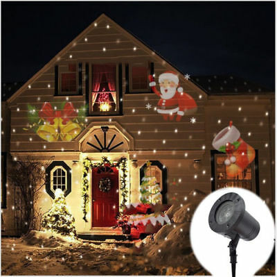 Outdoor Moving LED Laser Projector Lamp Landscape Garden Light Xmas Halloween