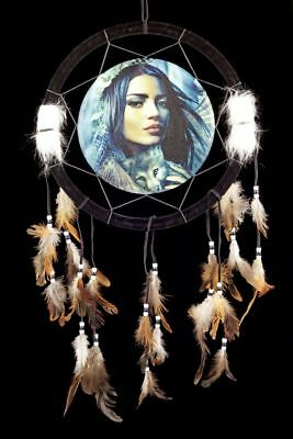 Dream Catcher with Indian Woman - NUT the Wolves - Western dreamctcher