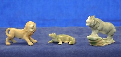 3 Wade First Whimsies Set No 4 Rhinoceros Lion Crocodile African Jungle Animals