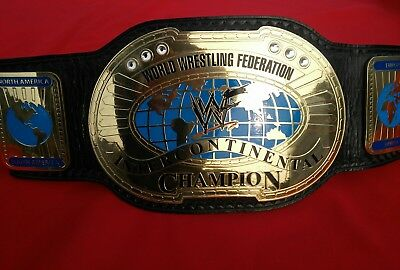 Wwf Intercontinental Oval Championship Replica Belt In Thick Brass Plates!!