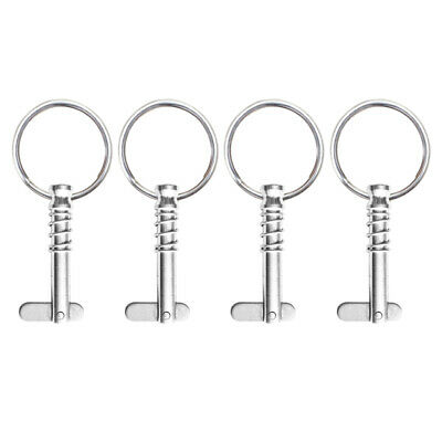 """4pcs Stainless Steel Quick Release Pin 1/4"""" w/ Pull Boat Bimini Top Fittings"""